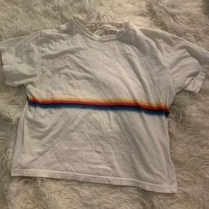 Brandy Melville Rainbow Stripe Tee
